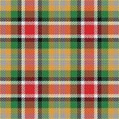 vector seamless pattern Scottish tartan Alabama, red, green, black, white, yellow, orange, gray