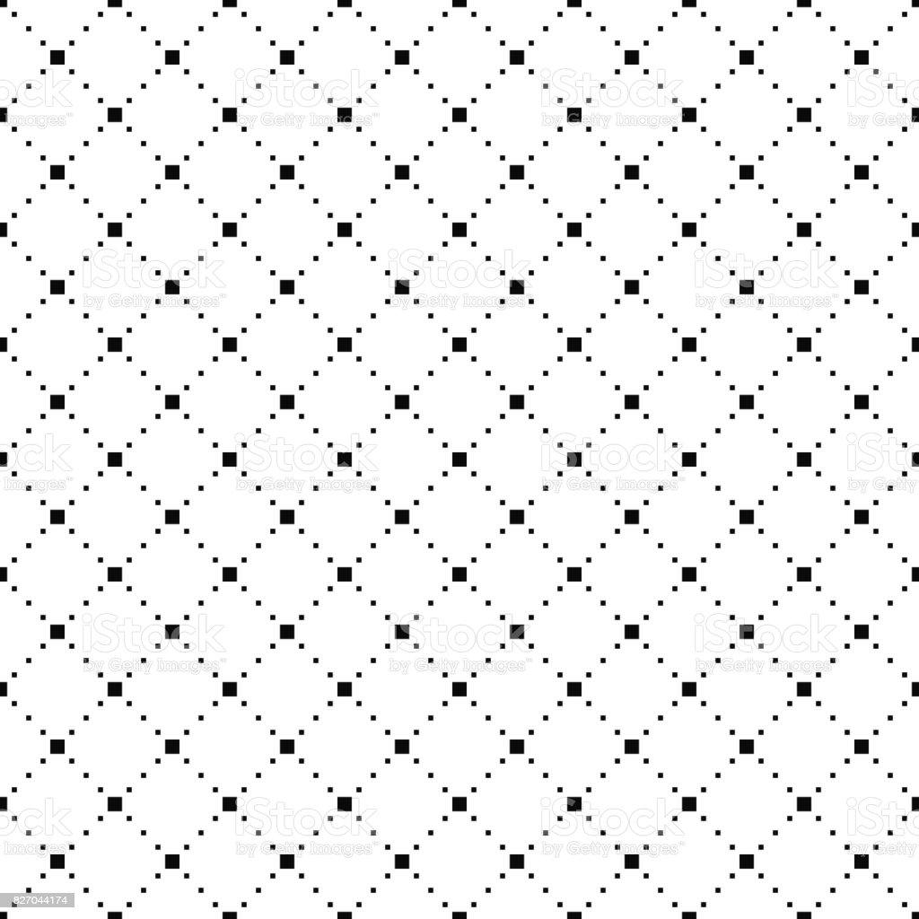 Vector seamless pattern. Simple stylish texture. Black-and-white background. Monochrome minimalistic design. vector art illustration