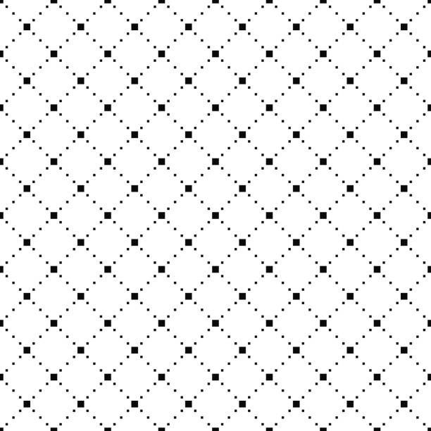 Vector seamless pattern. Simple stylish texture. Black-and-white background. Monochrome minimalistic design. Vector seamless pattern. Simple stylish texture. Black-and-white background. Monochrome minimalistic design. Vector EPS10 crisscross stock illustrations