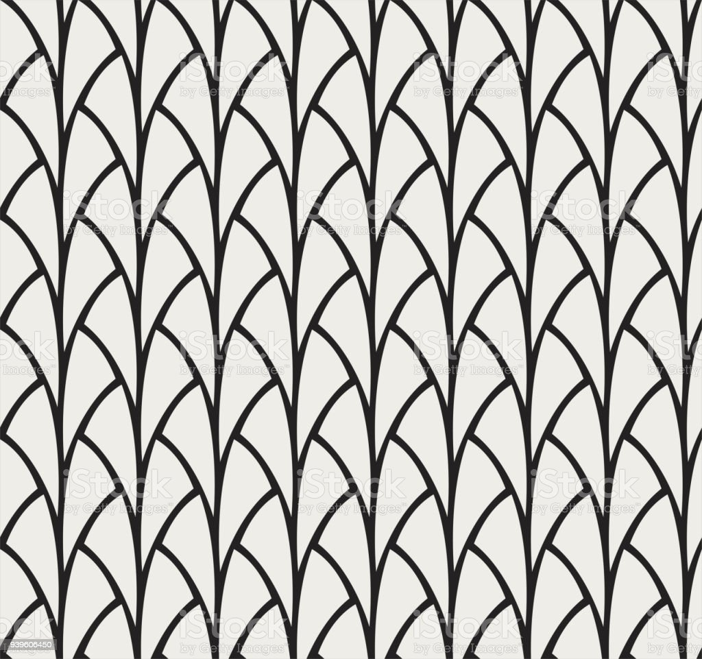 Padrão sem emenda do vetor. Textura abstrata estilo art déco. - ilustração de arte em vetor