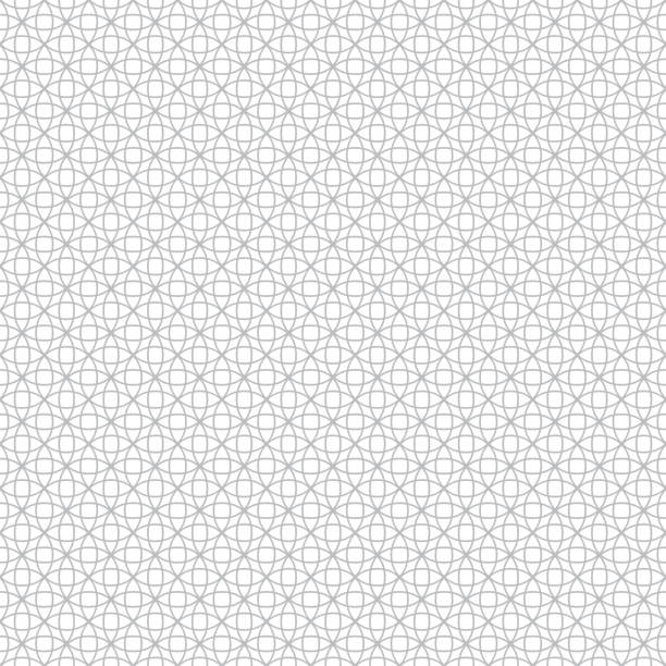 Vector seamless pattern Vector seamless pattern. Modern stylish geometric texture with intersecting outline circles. Regularly repeating geometrical tiles with stars, rhombuses, round elements. crisscross stock illustrations