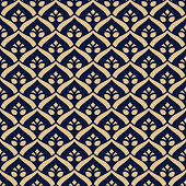Vector seamless pattern. Luxury stylish texture. Regularly repeating retro ornament. Pattern can be used as a background, wallpaper, wrapper, page fill, element of ornate decoration
