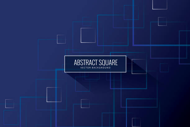 Vector seamless pattern Single Line, Geometric Shape, Cotton, Cube Shape, Decor square composition stock illustrations