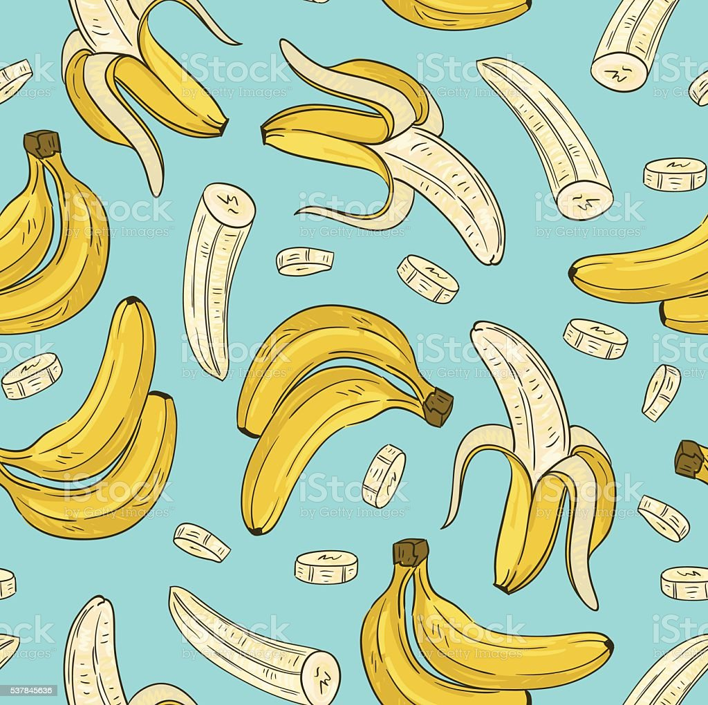 Vector seamless pattern with banana. vector art illustration