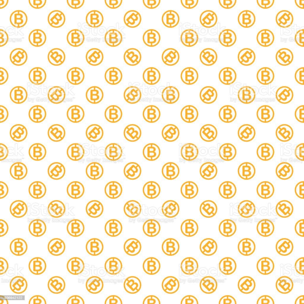 Vector seamless pattern with bitcoins. vector art illustration