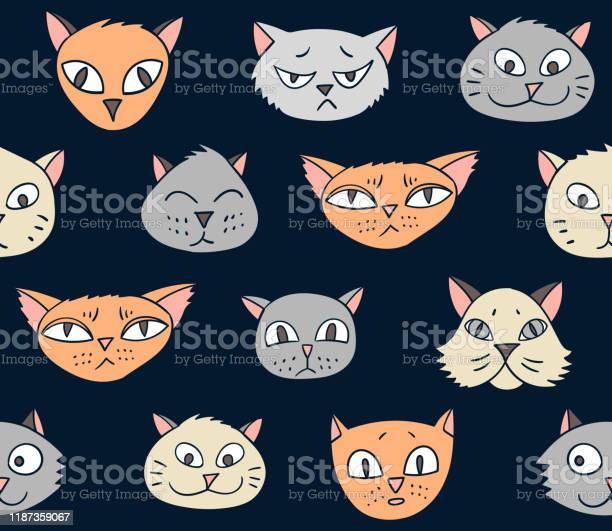 Vector seamless pattern with cartoon cats vector id1187359067?b=1&k=6&m=1187359067&s=612x612&h=djhartf anjrg5swxwigk81rol9lkf1lig4x1i55a3u=