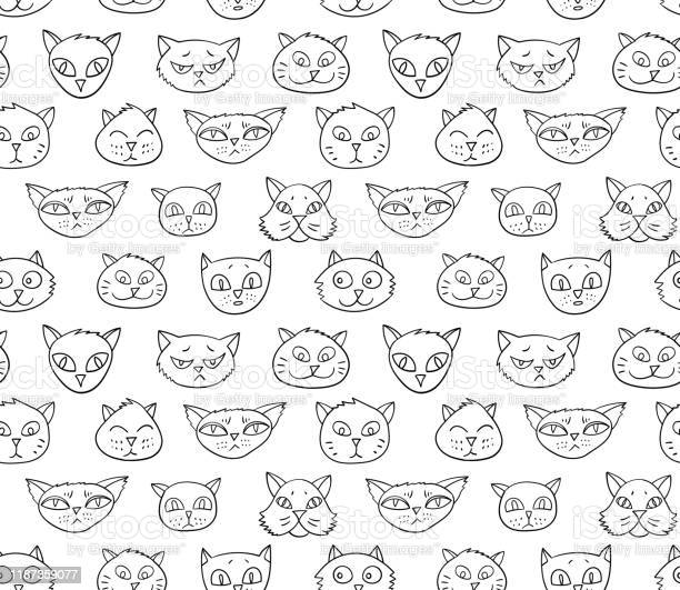 Vector seamless pattern with cartoon cats vector id1187359077?b=1&k=6&m=1187359077&s=612x612&h=1qj fbt dutiw  89ea mbrx2tdzvmxuehgr4sajqak=