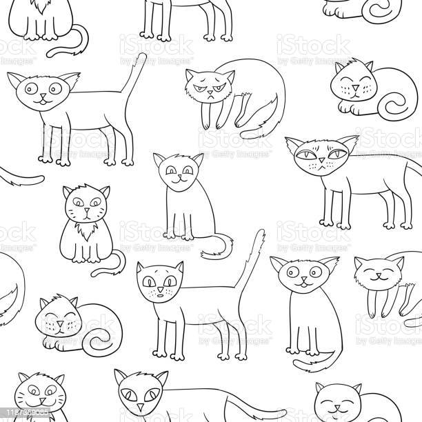 Vector seamless pattern with cartoon cats vector id1187359085?b=1&k=6&m=1187359085&s=612x612&h=f7v2qbx v8ymtqivvyskwbp5me3h2ueq9ikttuq kv4=