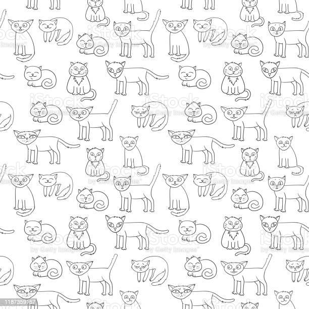 Vector seamless pattern with cartoon cats vector id1187359157?b=1&k=6&m=1187359157&s=612x612&h=pe2adtz53kiozm2nd038qwgsooejnlfyoa5u3scunsw=