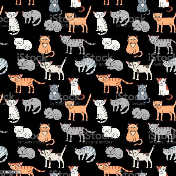 Vector seamless pattern with cartoon cats vector id1187359164?b=1&k=6&m=1187359164&s=612x612&h=fzrqaztu sa2jl9hu2sksctaedmlsqgw7p8wkbv5hpy=