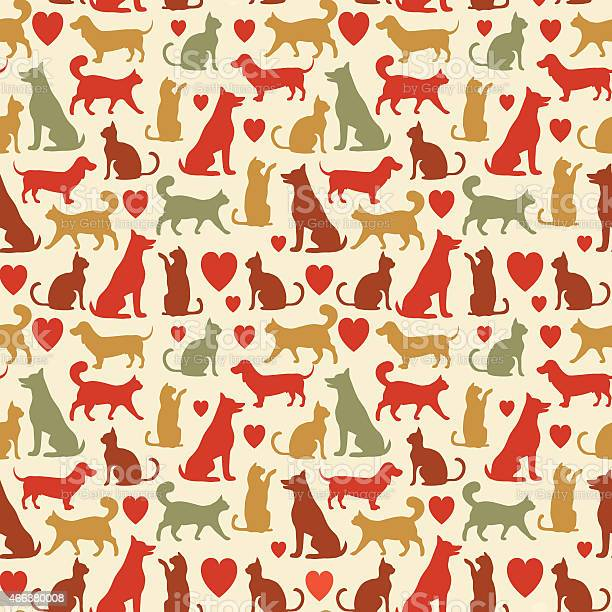 Vector seamless pattern with cats and dogs vector id466380008?b=1&k=6&m=466380008&s=612x612&h=gmhsgrmsslykcs7rxrndxfz yfpuotlvnlc3uwpt2 q=