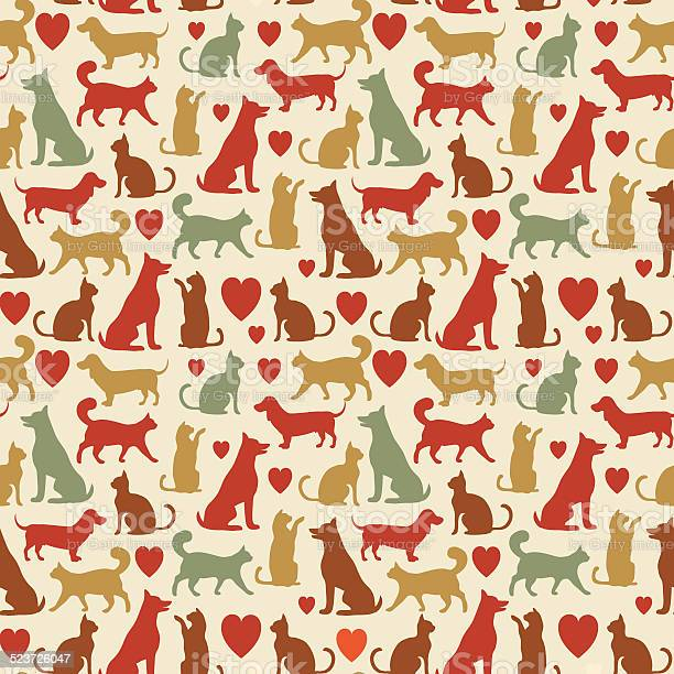 Vector seamless pattern with cats and dogs vector id523726047?b=1&k=6&m=523726047&s=612x612&h=bggg906sn aty784afsldn1mfsi4ysyjaohnamb2vc4=