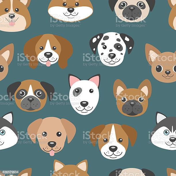 Vector seamless pattern with cute cartoon dog puppies vector id636529634?b=1&k=6&m=636529634&s=612x612&h=ukdvpoqlber8kpmfi5w2 nwyv6cfyd6ckqfxt6miogi=
