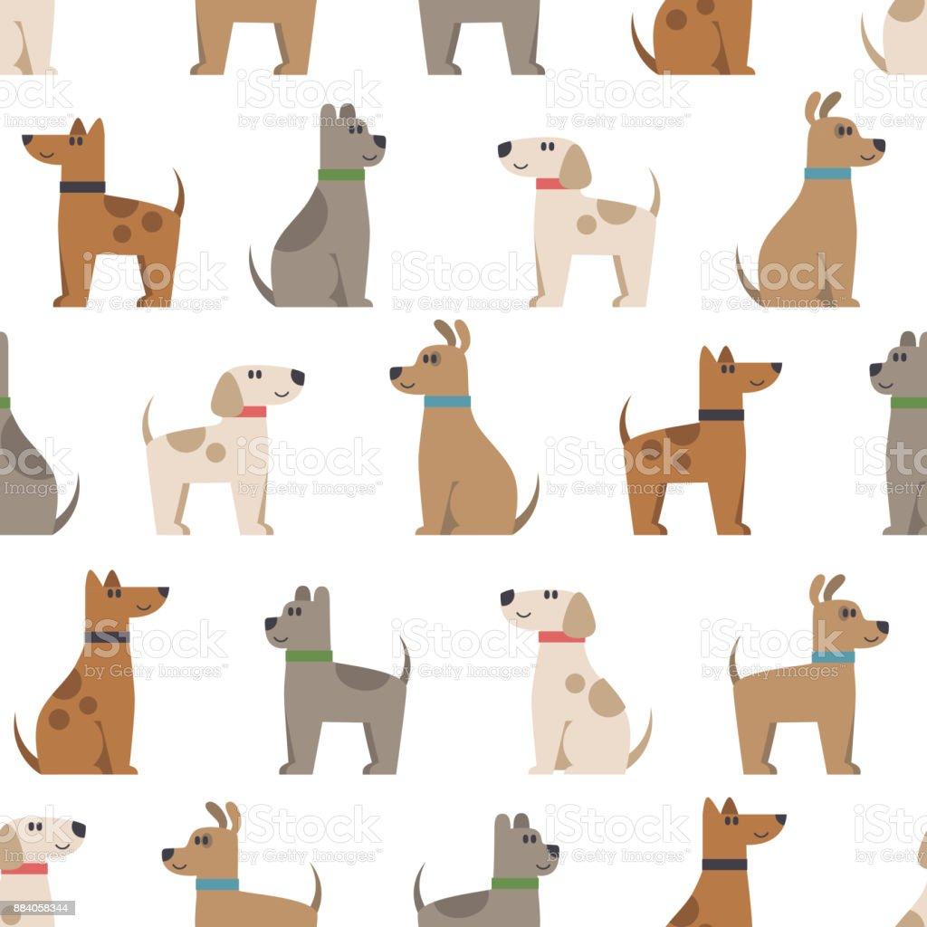 Ilustración De Patrón Transparente De Vector Con Cute Dibujos