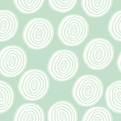 Vector seamless pattern with doodle circles