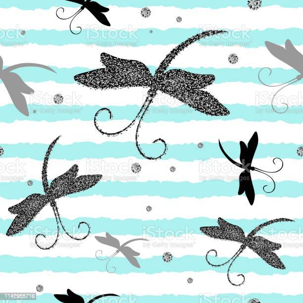 Vector seamless pattern with dragonfly and glitter effect perfect for vector id1142955716?b=1&k=6&m=1142955716&s=612x612&h=sp3w09ubehml9ilpytuyu6rkvjwecqkly4 zjh3dcqk=