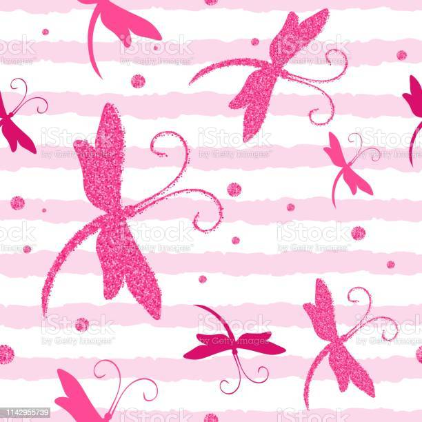 Vector seamless pattern with dragonfly and glitter effect perfect for vector id1142955739?b=1&k=6&m=1142955739&s=612x612&h=rhrzc5sror8tryjfdfc39s6cv yisk1xv re5rgzna8=