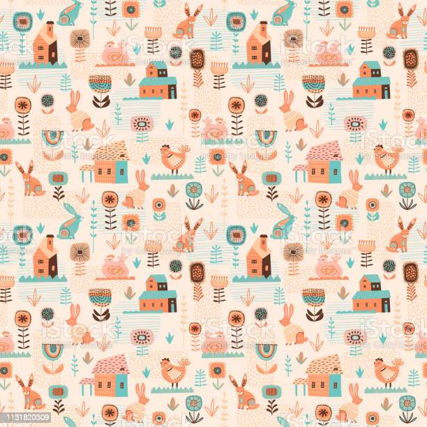 Vector seamless pattern with easter symbols and folk flowers for and vector id1131820309?b=1&k=6&m=1131820309&s=612x612&h=yrv8mqivlgywl1yefcwx72djbxx mj98wfnl1 avimm=