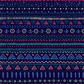 Vector seamless pattern with ethnic tribal hand-drawn trendy ornaments. Can be printed and used as wrapping paper, wallpaper, textile, fabric, etc.