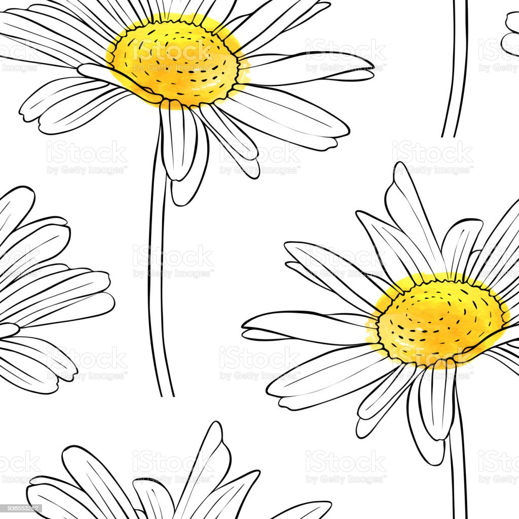 Vector seamless pattern with flower of daisy stock vector art more vector seamless pattern with flower of daisy royalty free vector seamless pattern with flower of izmirmasajfo