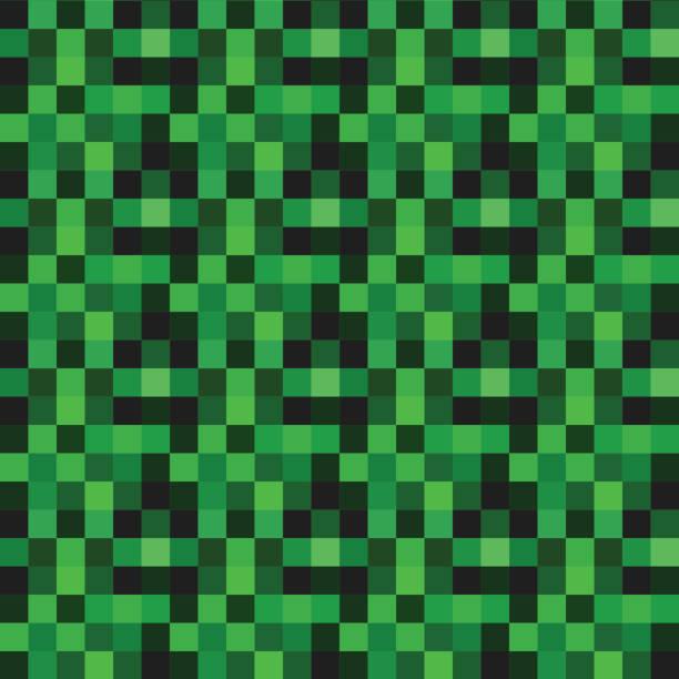 bildbanksillustrationer, clip art samt tecknat material och ikoner med vector sömlösa mönster med gröna bildpunkter - mining