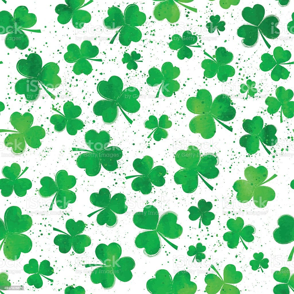 shamrock pattern wallpaper 1366x768 - photo #11