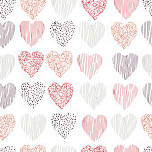 istock Vector seamless  pattern  with hearts 1210284108