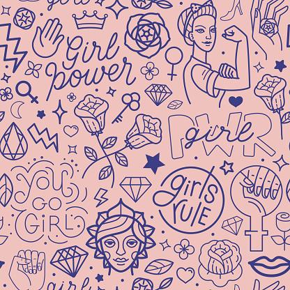 woman tattoos stock illustrations