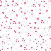 istock Vector seamless pattern with little hearts. Repeating background with Saint Valentine day symbols. Playful February holiday texture with love concept 1289683202