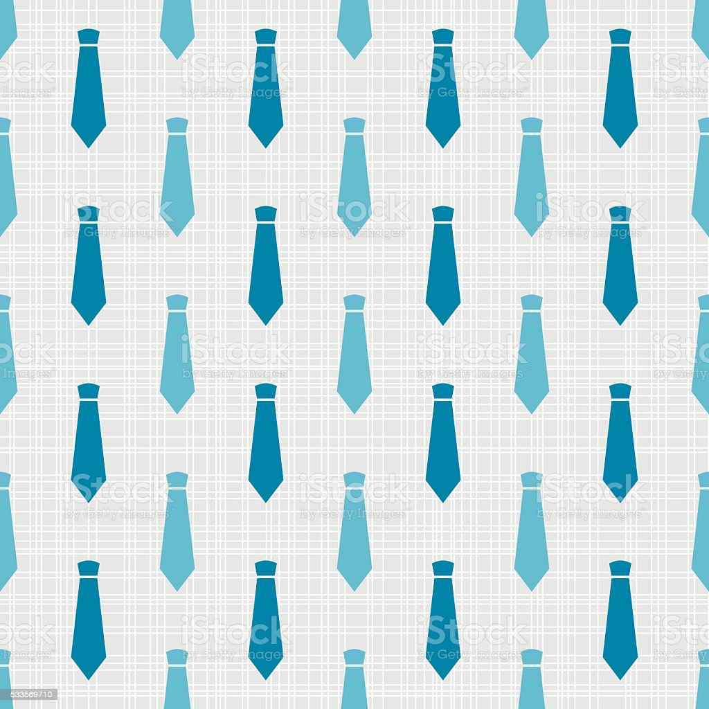 Vector seamless pattern with neckties vector art illustration