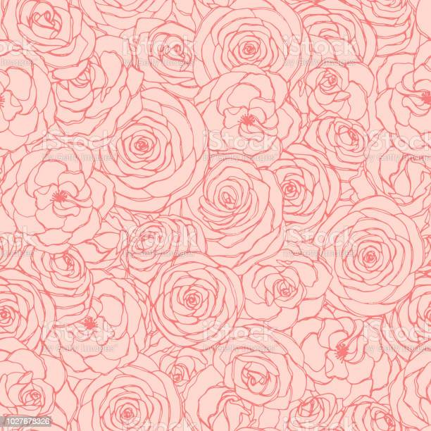 Vector seamless pattern with rose flowers outline on the pink hand vector id1027678326?b=1&k=6&m=1027678326&s=612x612&h=vtaivp22xssxdwxicrqqlolt2alltwcsrhqzrar sko=