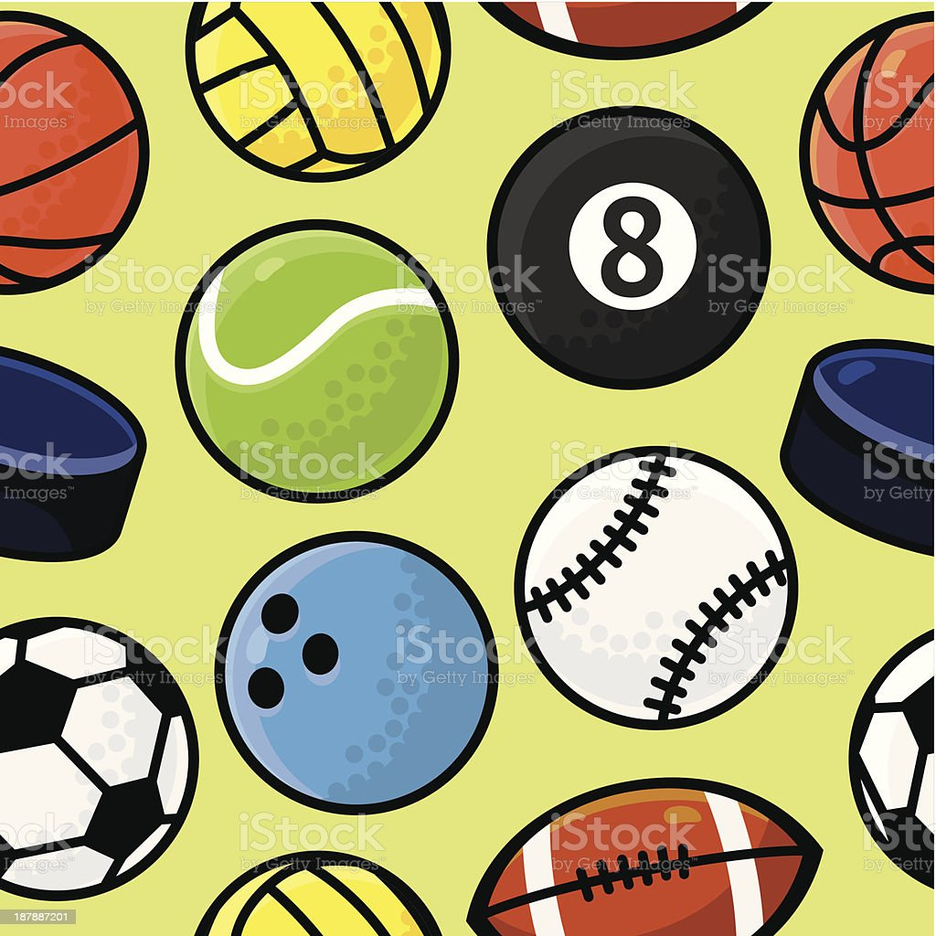Vector seamless pattern with sport balls royalty-free vector seamless pattern with sport balls stock vector art & more images of abstract