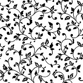 Vector seamless pattern with spring branches. Decorative background for for the design of surfaces, textiles, wallpapers, postcards, invitations, covers.