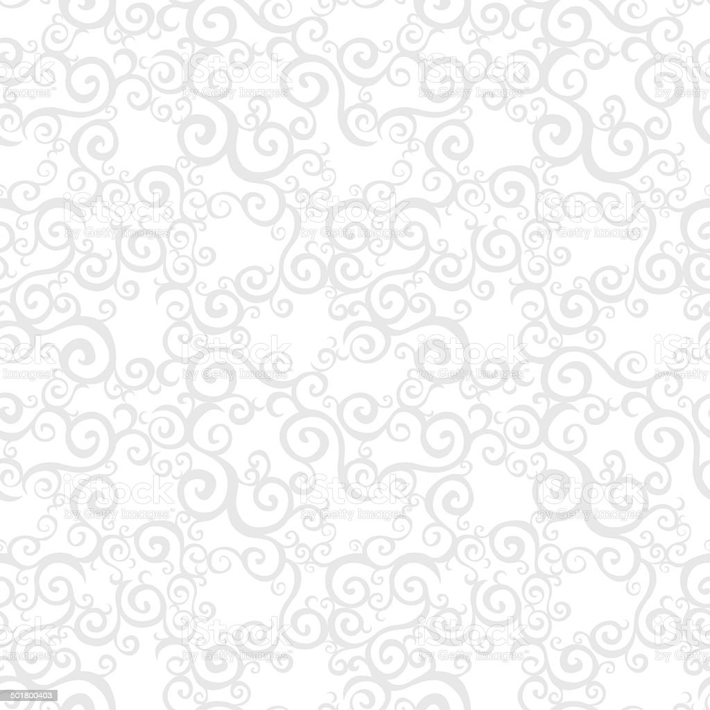 Vector seamless pattern with swirls motifs. royalty-free stock vector art