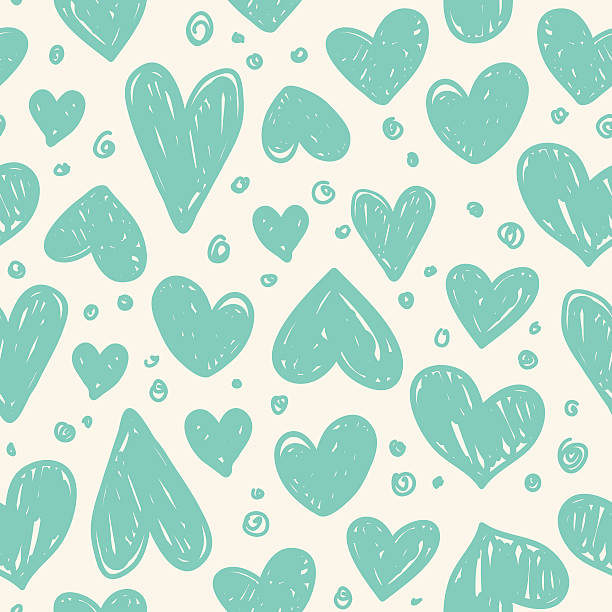 bezszwowe wzór z valentine serca - holiday background stock illustrations