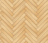 Vector seamless pattern with wooden zigzag planks. Old wood herringbone parquet floor background