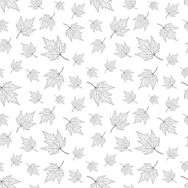Vector seamless pattern,background with maple leaves Seamless pattern,background with maple leaves. Vector illustration maple leaf stock illustrations