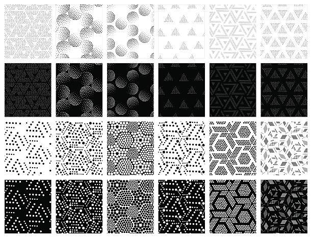 Vector seamless patterns set – Vektorgrafik