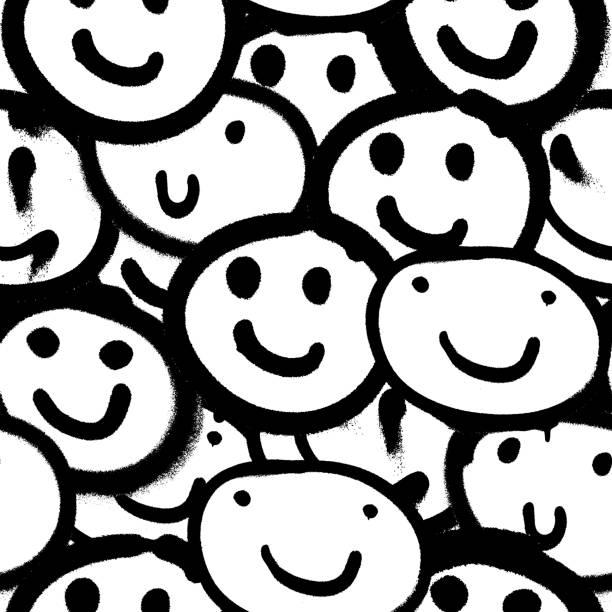 illustrazioni stock, clip art, cartoni animati e icone di tendenza di vector seamless patterns. trendy endless unique wallpaper - sfondo graffiti