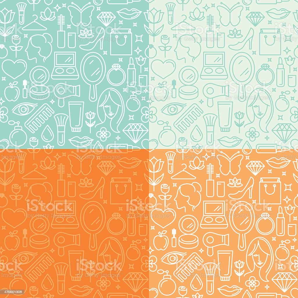Vector seamless patterns vector art illustration