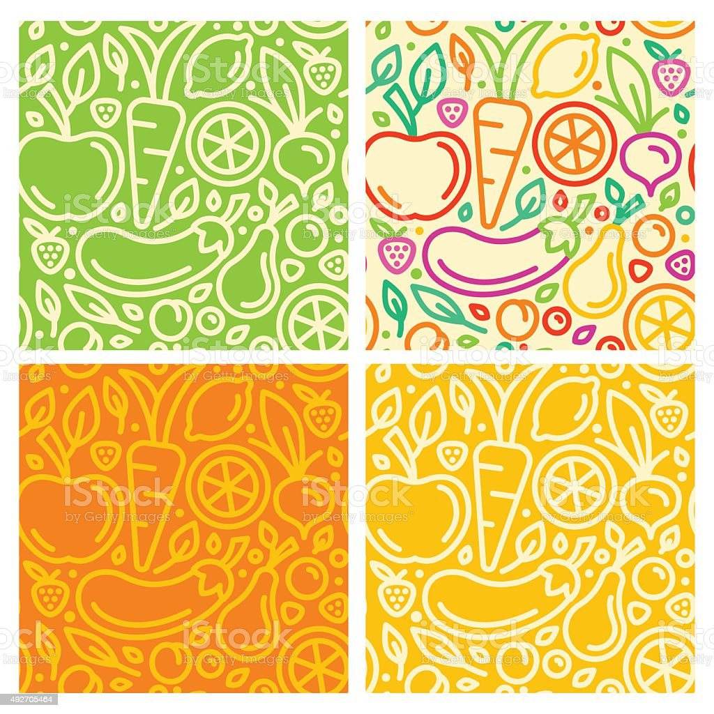 Vector seamless patterns vector art illustration