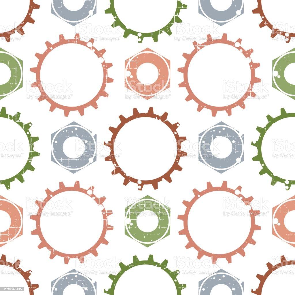 Ilustración de Patrones Transparentes De Vector Con Mecanismo De ...