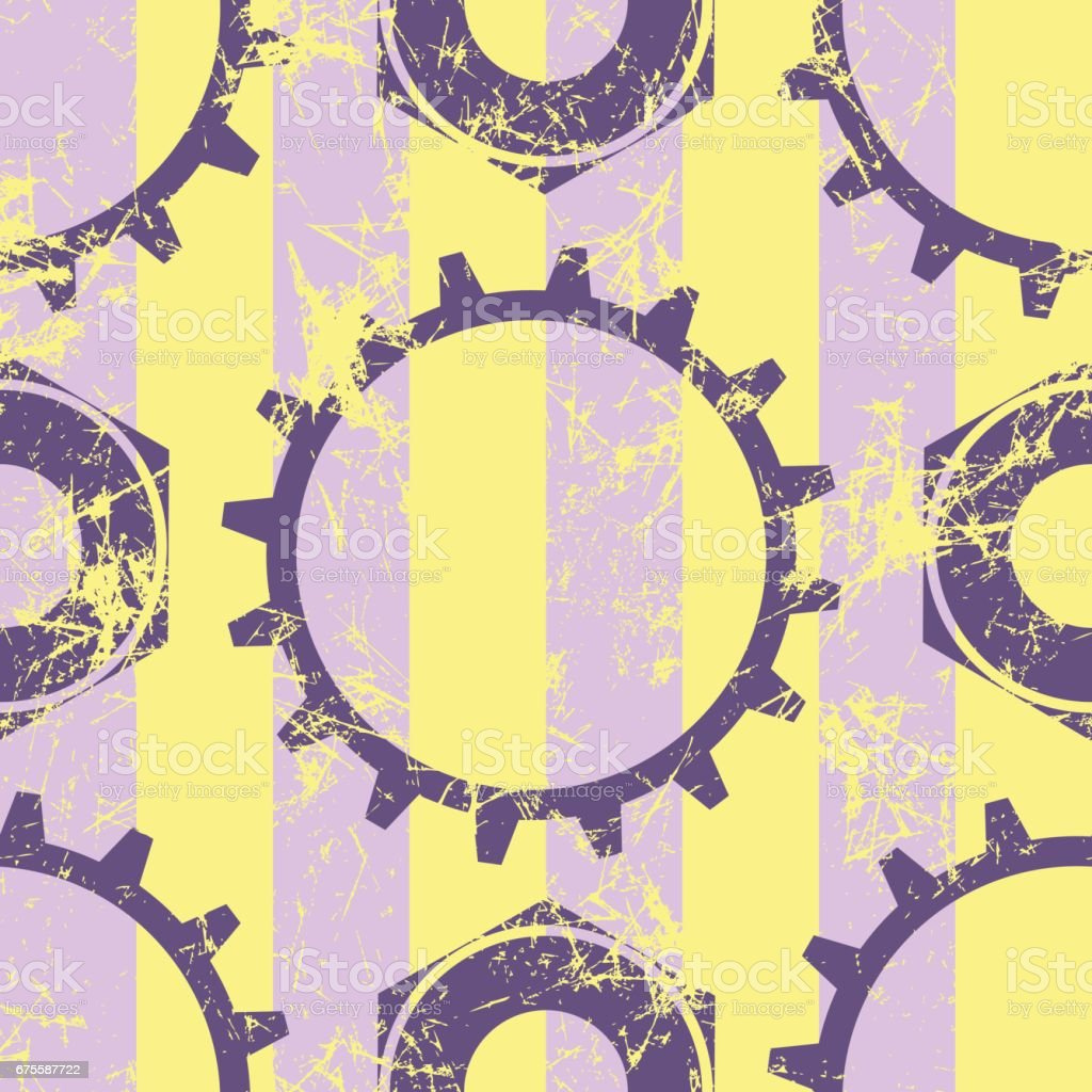 Vector seamless patterns with mechanism of watch. Creative geometric yellow, violet grunge backgrounds with gear wheel. Texture with cracks, ambrosia, scratches, attrition. Graphic illustration. vector seamless patterns with mechanism of watch creative geometric yellow violet grunge backgrounds with gear wheel texture with cracks ambrosia scratches attrition graphic illustration – cliparts vectoriels et plus d'images de abstrait libre de droits
