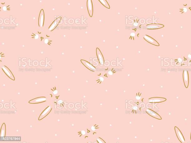 Vector seamless pink background with little cute bunny hand drawn vector id823767944?b=1&k=6&m=823767944&s=612x612&h=ldfjuldyi ujeoe1gfy4kzjat2q0jylxtggqie8lfc4=