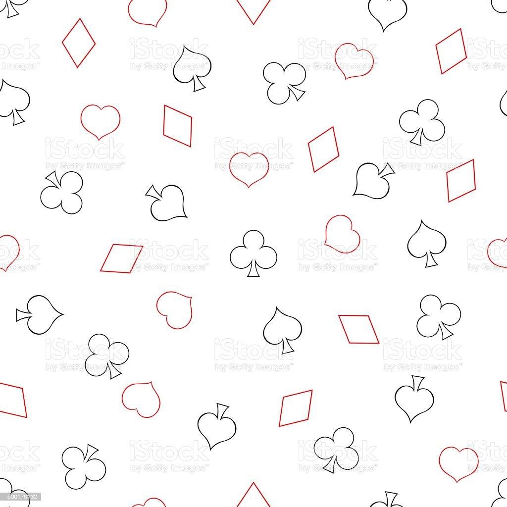 Ilustración de Vector Patrón Sin Costuras De Naipes Trajes y más ...