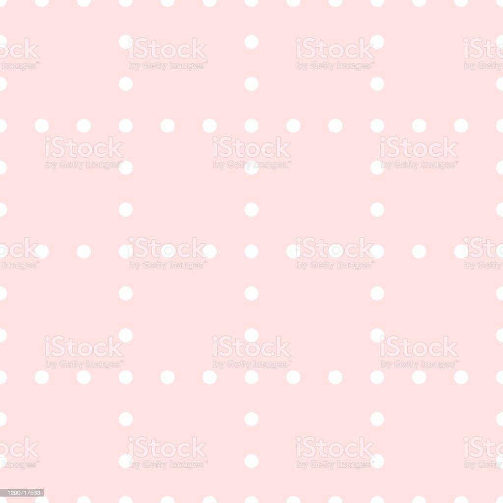 ベクトルシームレス水玉模様ラッピング壁紙織物のためのシンプルな