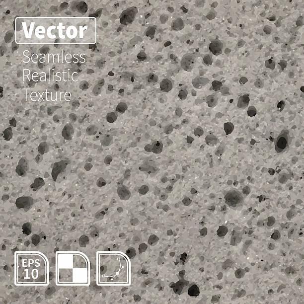 stockillustraties, clipart, cartoons en iconen met vector seamless porous grey sponge texture. - spons