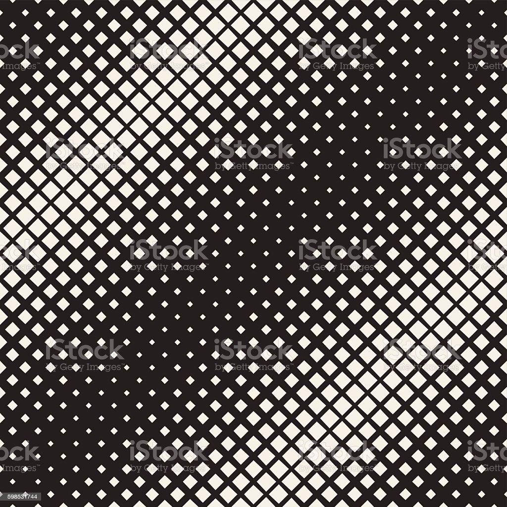 Vector Seamless Rhombus Diagonal Halftone Geometric Grid Pattern vector seamless rhombus diagonal halftone geometric grid pattern – cliparts vectoriels et plus d'images de abstrait libre de droits
