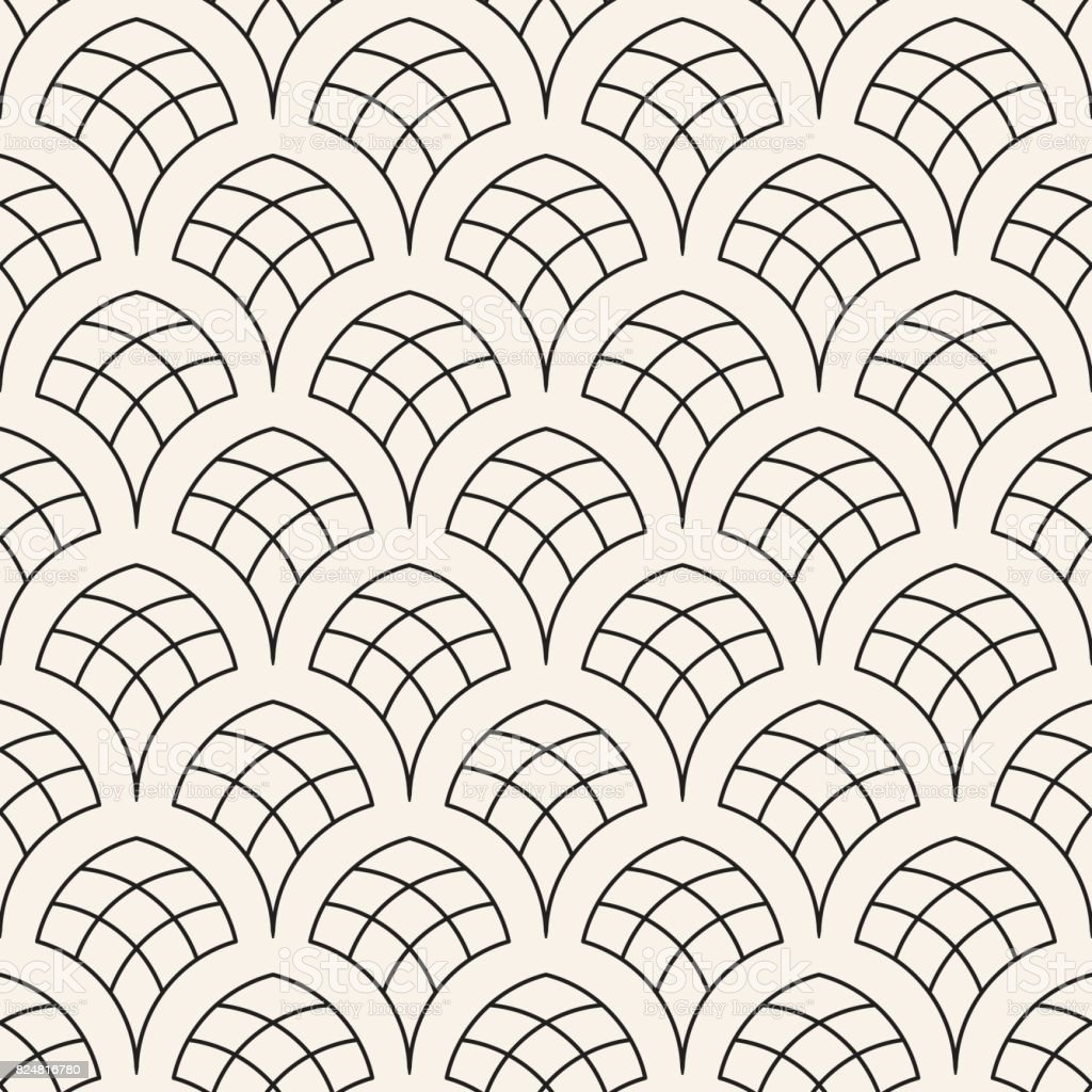 vector seamless rounded lines pattern abstract geometric background