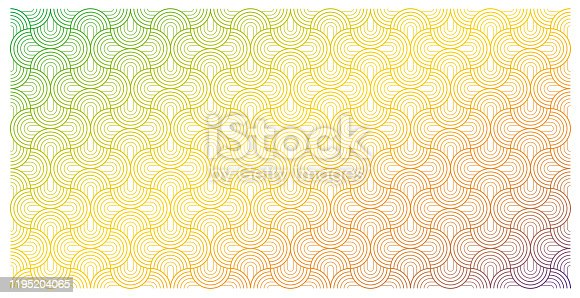 Vector seamless semi-circle pattern background